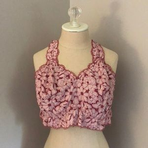 Lane Bryant Cacique Pink Lace Bralette 22/24